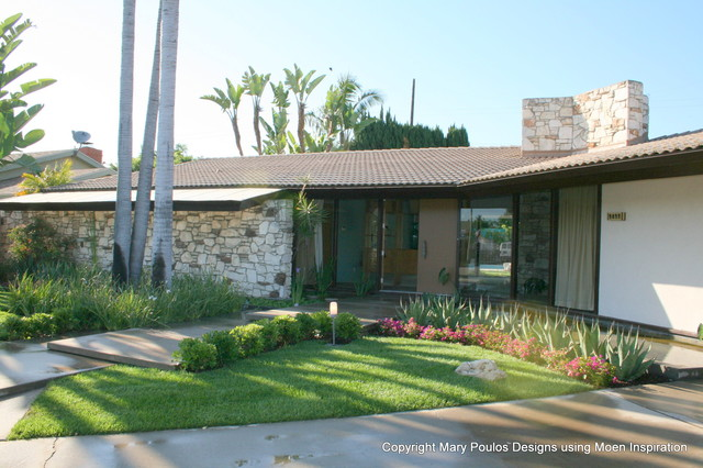 Crestbrook Front Yard Before And After Midcentury