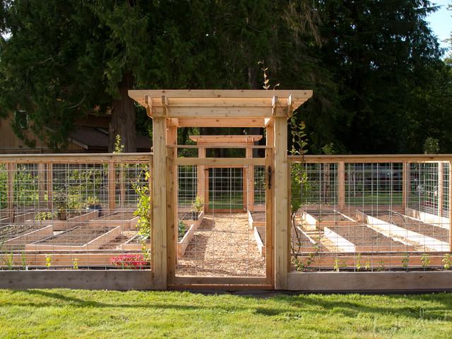 Critter Resistant Vegetable Garden Design Rustic Landscape