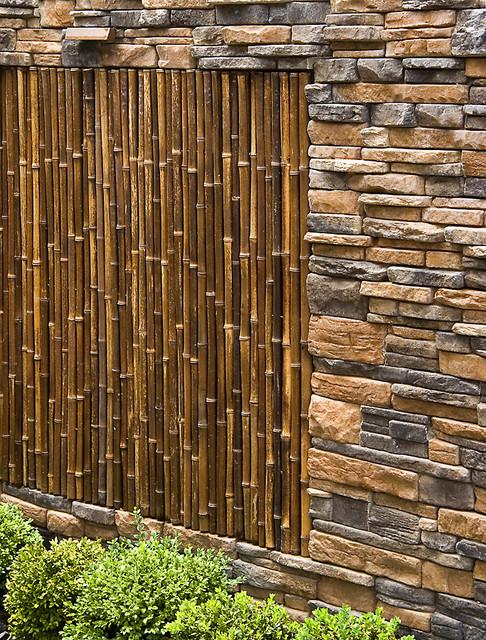 culture stone bamboo garden wall asian landscape