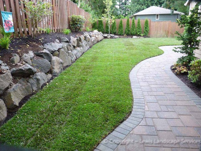 Curvy Paver Pathways contemporary-landscape