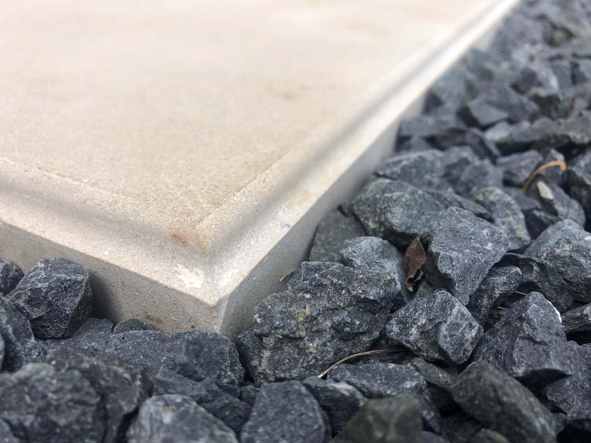 Custom Beveled Leuders Stepping stones w/ Basalt
