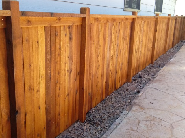Custom cedar fence stained with Sikkens Natural - Modern - Denver - by All Access Fence