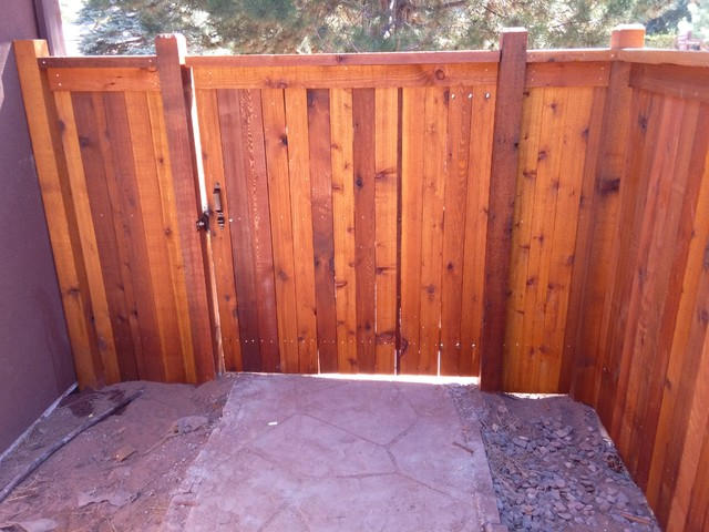 Custom Cedar Fence Stained With Sikkens Natural Modern Denver By All Ac