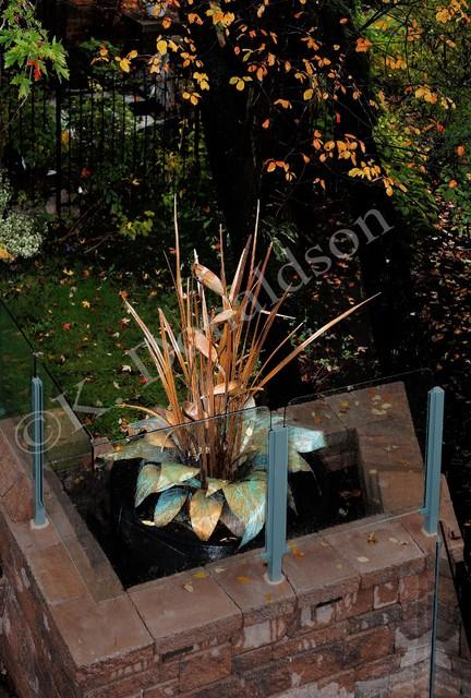 Custom Copper Fountain eclectic-landscape