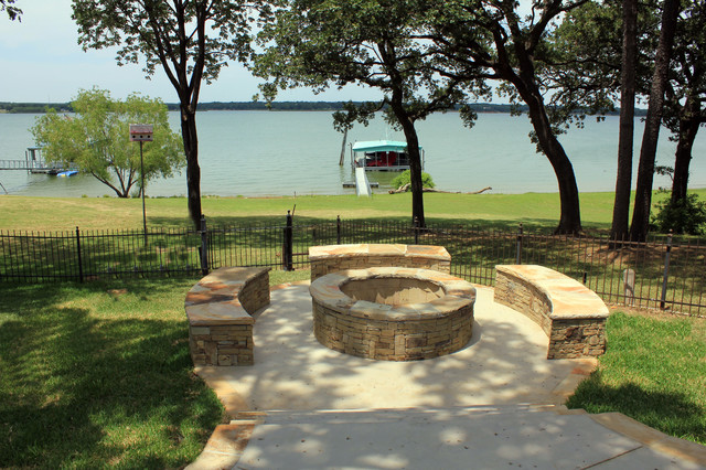 Custom Design Outdoor Living Area Dallas, TX contemporary landscape