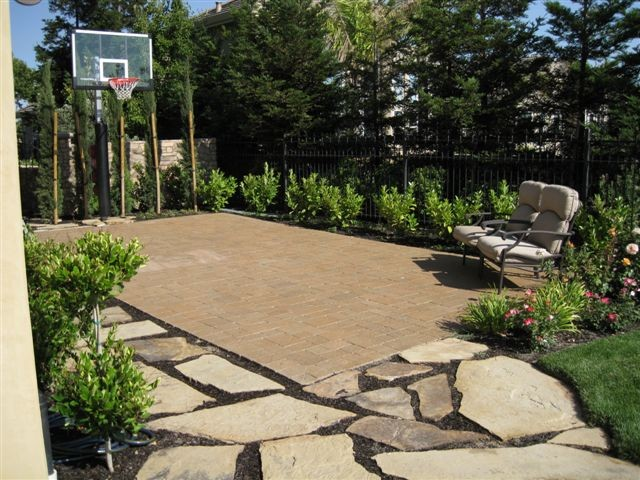 Custom Landscape DS Residence Traditional Landscape San - Backyard basketball court ideas