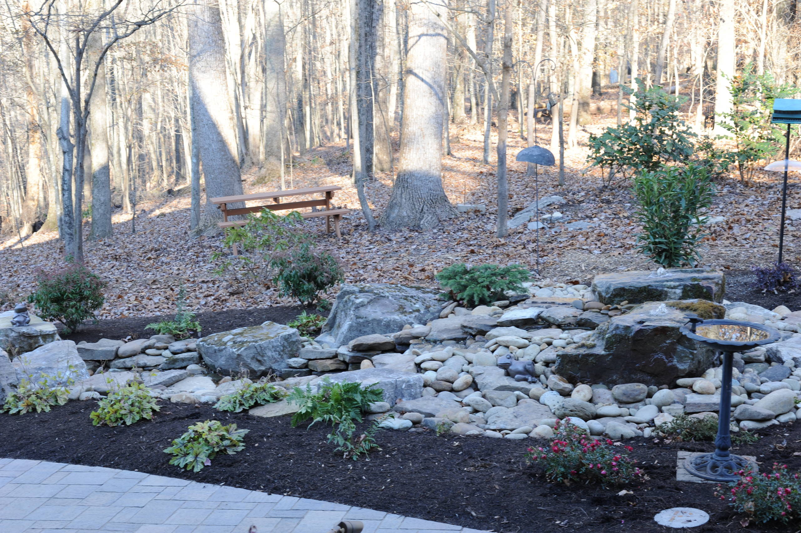 Custom Landscape with Water Features