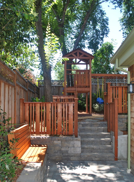 Custom Backyard Playsets : Custom playset traditionallandscape
