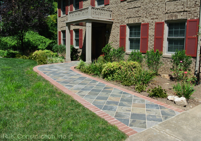 Custom Portico and Walkway traditional-landscape