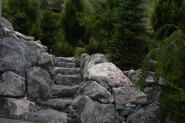 Custom Rock Staircase eclectic-landscape
