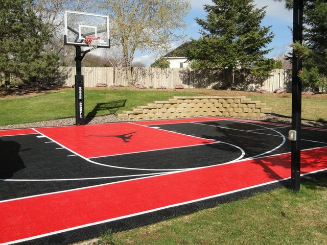Custom snapsports backyard basketball game court Basketball court installation cost