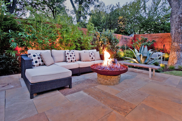 Dallas meets Southern California contemporary-landscape