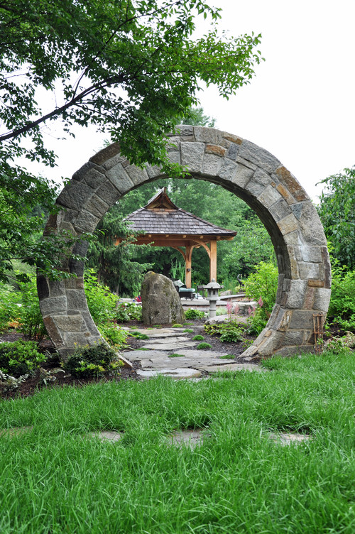 Dry stone building best stone moongates for Asian landscape design