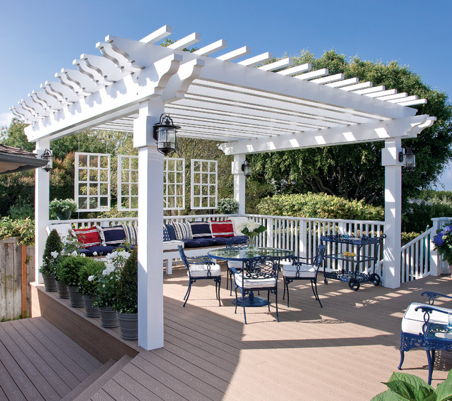 Deck ideas that work by peter jeswald landscape by the for Pergola images houzz