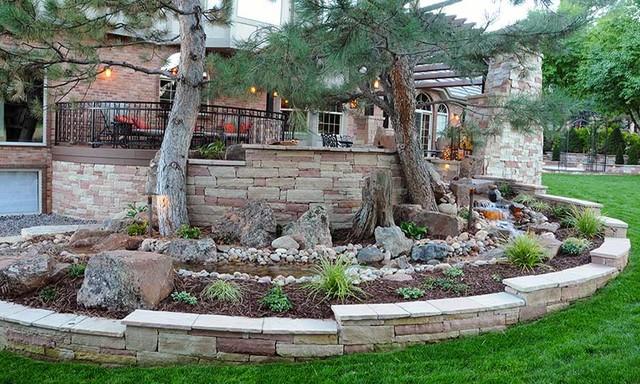 Backyard Landscaping Ideas For Colorado : Denver colorado backyard patio above water feature