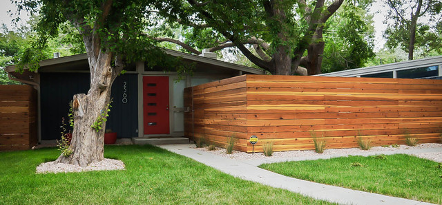 Denver Modern Fence Samples Midcentury Garden Denver