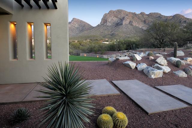 Desert contemporary cliff view for Desert landscape design