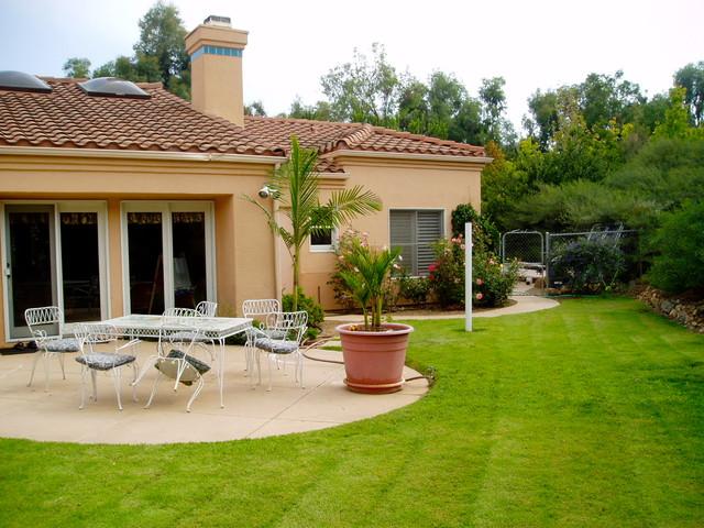 Design Build:  Olivenhain Xeriscape mediterranean-landscape