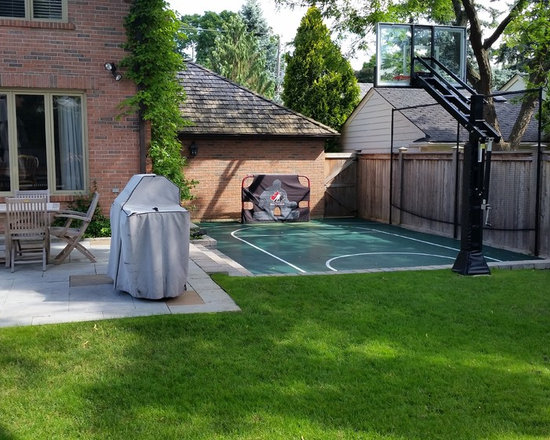 Small Backyard Outdoor Sport Court Design Ideas Pictures