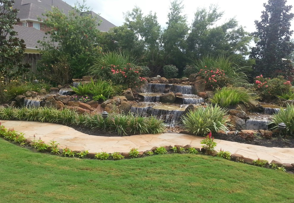 Disappearing Pondless Waterfall Ideas For Your Austin Central Texas Landscape Landscape Houston By Texas Ponds And Water Features Llc