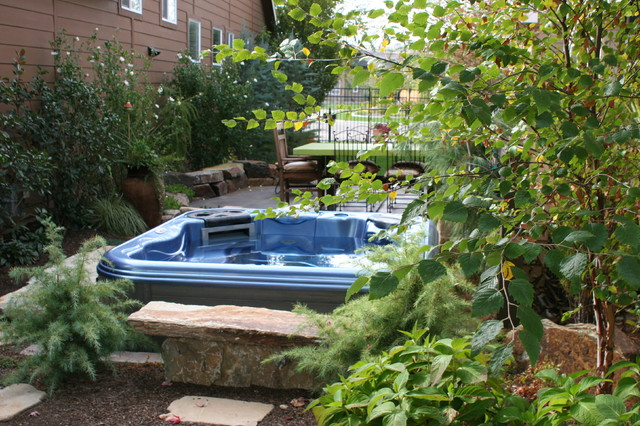 Disguising A Hot Tub Traditional Landscape Boise