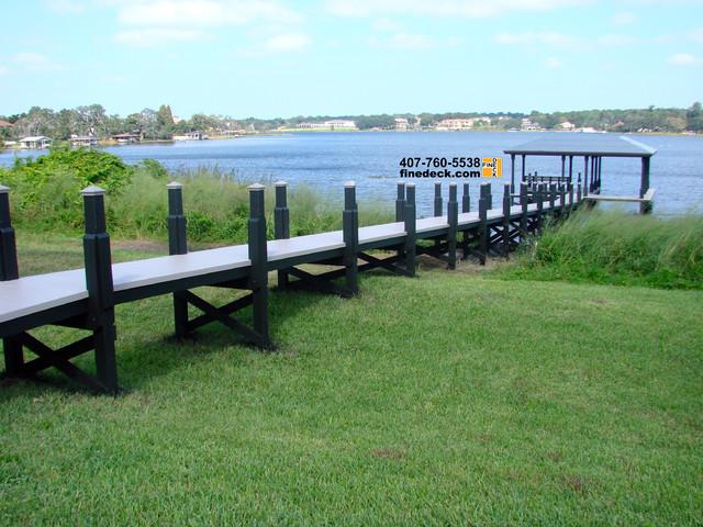 Dock at Lake Down, Windermere FL traditional-landscape