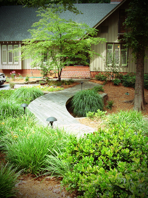 Drainage Improvements and Curb Appeal Co-exist modern-landscape