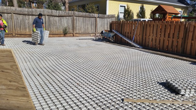 Drivable Grass Permeable Pavers Before & After