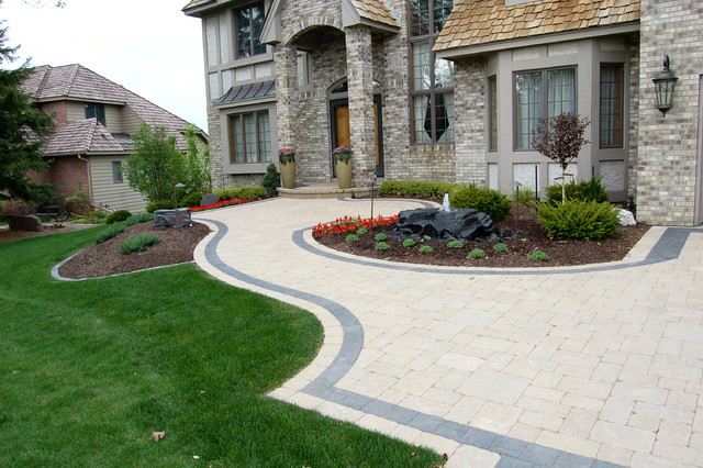 Driveway art contemporary landscape minneapolis by for Driveway landscaping