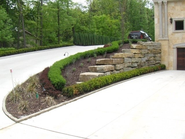 Driveway Entry Retaining Wall Landscape detroit by