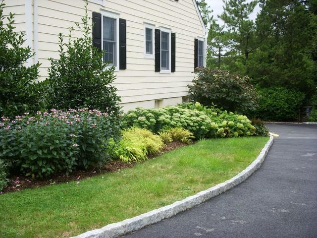 Driveway landscape renovation traditional landscape for New driveway ideas