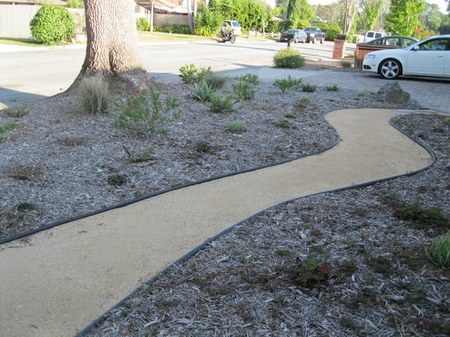 Drought Tolerant Costa Mesa Front Yard Contemporary