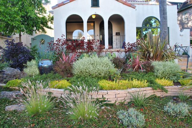 Drought Tolerant Front Yard Mediterranean Garden San