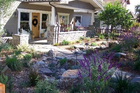 Dry Creek Bed Mediterranean Garden San Go By Letz