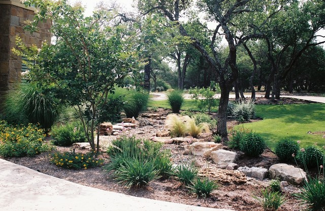 Dry Creek Beds Used For Drainage Rustic Garden
