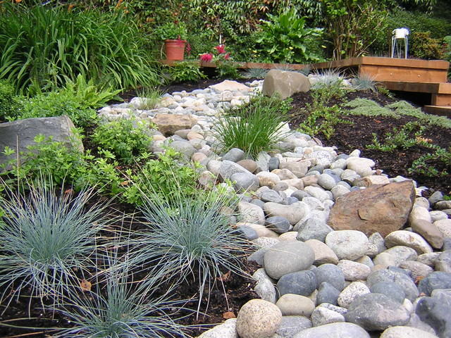 dry creek garden asian-landscape