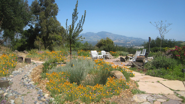 eclectic landscape by Golden Associates, Landscape Architects