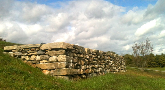 Dry stone walls traditional-landscape