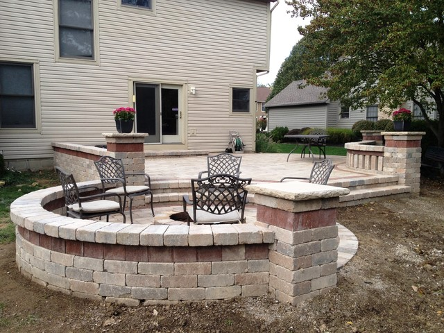 Two Tiered Backyard : Two Tier Patio  Traditional  Landscape  columbus  by Backyard