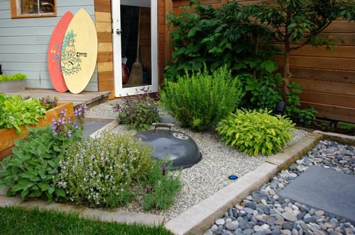 contemporary landscape gardening outdoor