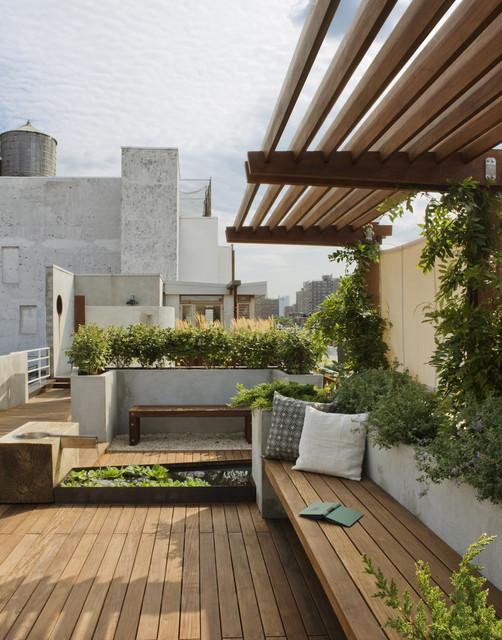 East Village Roof Garden traditional-landscape
