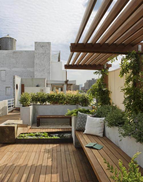 East Village Roof Garden Traditional Landscape New York By