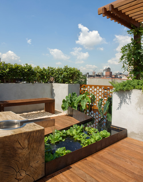 East village roof garden modern landscape new york for Landscape design new york