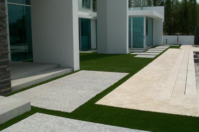 EasyTurf with Paver Stones modern-landscape