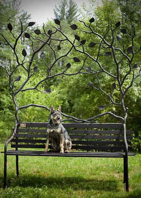 Oak Hill Iron - Art Bench eclectic landscape