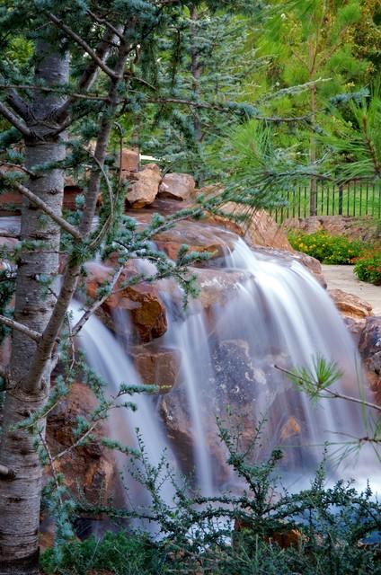 Edgewater - Nature Inspired Waterfall & Swimming Pool mediterranean-landscape