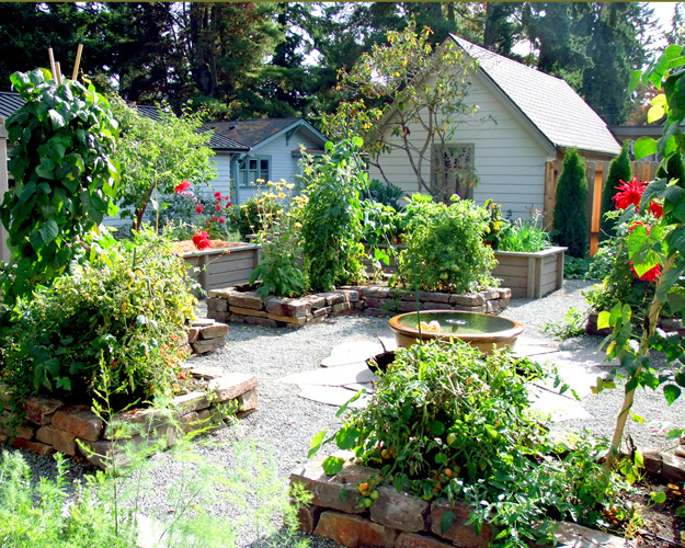 Edible Garden Potager Traditional Landscape Seattle by