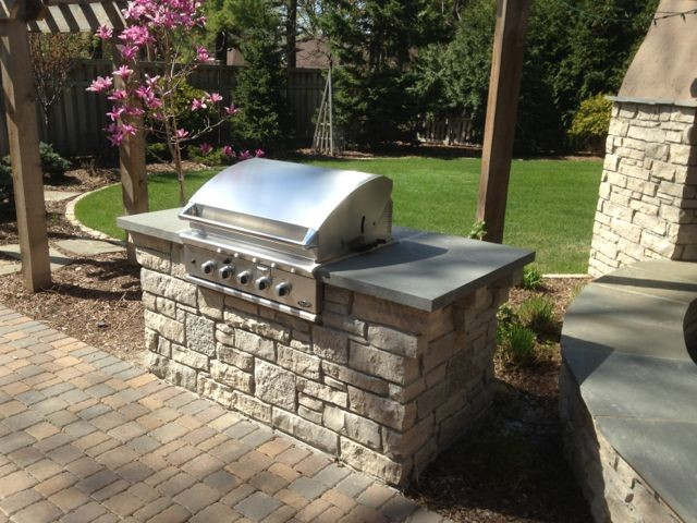 Edina Stone Grill Surround Traditional Garden