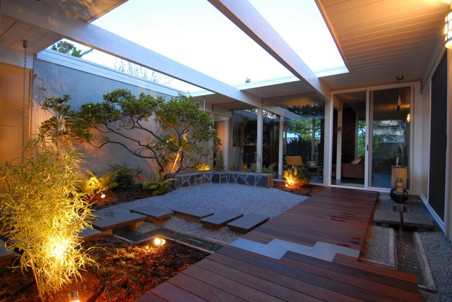 Eichler atrium midcentury garden san francisco by for Houzz landscape architects