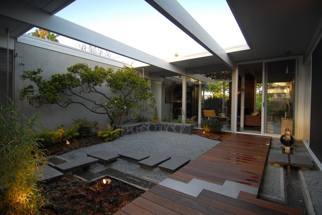 Eichler atrium midcentury landscape san francisco for Houzz landscape architects